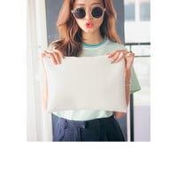 Pastel Cushion Clutch