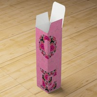 Love in Pink Pattern Wine Box by KCS