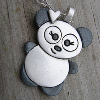 Who Needs a Hug Panda Sterling Necklace SHIPS IMMEDIATELY
