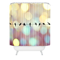 Shannon Clark Birds And Bokeh Shower Curtain
