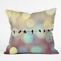 Shannon Clark Birds And Bokeh Throw Pillow