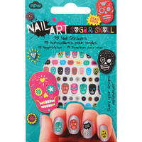 Nail Art Sugar Skull Nail Stickers