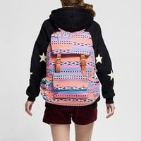 Trendy Stripe Colorful Ethnic Canvas Backpack