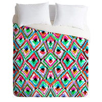 Amy Sia Watercolour Ikat 1 Duvet Cover