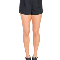 Crochet Sides Shorts - Black