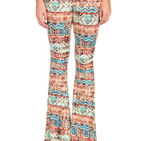 Native Print Bell Bottoms