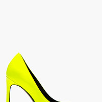 ACID YELLOW PATENT LEATHER PARIS PUMPS