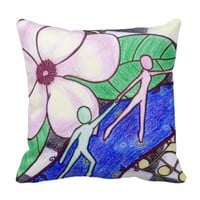 Music of the Magnolias - Throw Pillow