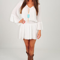 Falling In Love Dress: White