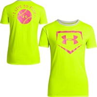 Under Armour Girls' Live To Play Softball Graphic T-Shirt