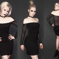 Cat Got Your Tongue Off The Shoulder Leopard Mesh Dress by Lip Service - SALE - Dresses And Skirts