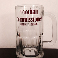 Fantasy League Commissioner beer mug.  Fantasy Football