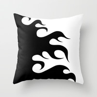 Black Fire Print Throw Pillow by Bee :)