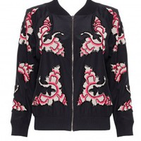 alice + olivia | FELISA ZIPPERED JACKET