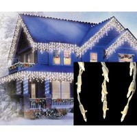 Walmart: Set of 105 Warm White LED Cascading Mini Icicle Christmas Lights - White Wire