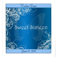 Blue Sweet Sixteen Photo Album.