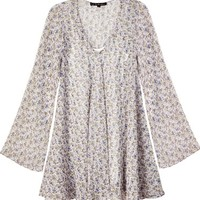 For Love & Lemons White Floral Daytripper Dress