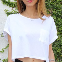 POCKET WHITE TEE
