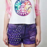 Galaxy Starbucks Crop Tank Top