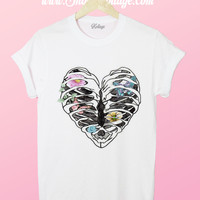 Elegant Skeleton Heart Tee