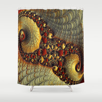 Golden Delight  Shower Curtain by OCDesigns_PwinArt