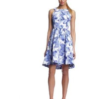 Gabby Skye Women's Floral Fit-and-Flare Dress
