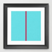 Re-Created Interference ONE No. 27 Framed Art Print by Robert S. Lee