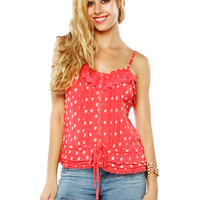 Papaya Clothing Online :: GIRLISH DAISIES TRIM TOP