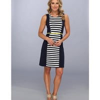 Anne Klein Stripe S/L Belted Dress