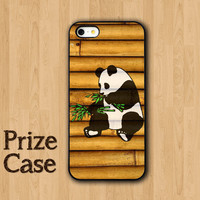 Panda Bamboo Phone Case, Samsung Galaxy S4, iPhone 5 Case, iPhone 5S, iPhone 5C, Personalized Covers, Wood Phone Case, Cute Animal Case
