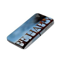 Be Happy iPhone Case from Zazzle.com