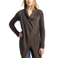 Splendid Women's Waffle Stripe Long Sleeve Wrap