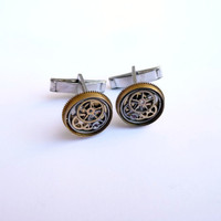 Clockwork Cufflinks Model Twenty One by amechanicalmind