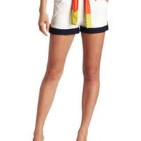 C. Luce Women&#x27;s Belted Colorblock Short