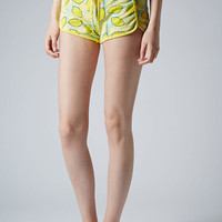 Lemon Print Runner Shorts