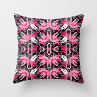 Black Pink Tribal Pattern Throw Pillow by Webgrrl | Society6