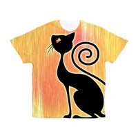 Black Cat Vintage Style Design Men's All Over Prin> Black Cat Vintage Style Design> BluedarkArt