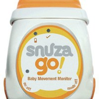 Snuza Portable Baby Movement Monitor, Orange/White, 0-12 Months