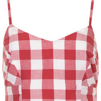 RED GINGHAM BRALET