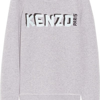 KENZO | Embroidered cotton-blend sweatshirt | NET-A-PORTER.COM