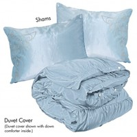 Wake Up Frankie - Romancing the Ruffles Butterfly Set - Porcelain Blue : Teen Bedding, Pink Bedding, Dorm Bedding, Teen Comforters