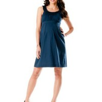 Motherhood Maternity: Sleeveless Rosette Details Maternity Dress