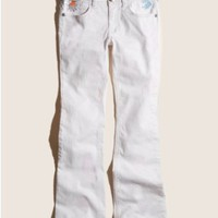 GUESS Kids Girls Micro-Flared Jeans with Embroidery