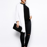 ASOS CURVE Exclusive Collarless Coat