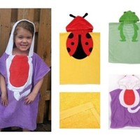 Hooded Beach Towel/Cover-up – 5 Cute Animals To Choose From!