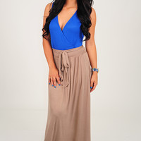 All The Right Moves Dress: Blue/Mocha
