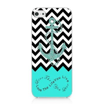 JIAXIUFEN Anchor Chevron Retro Vintage Tribal Nebula Pattern Hard Case Cover For Apple Iphone 5 5S 5G Skin Protector Accessory