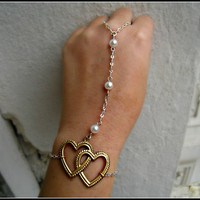heart slave bracelet by alapopjewelry