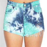 Tie-Dye Denim Cutoffs