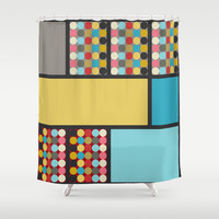 Dovetail Shower Curtain by Ramon Martinez Jr